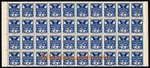 88876 -  Pof.143A, 5h modrá, 40-blok, ZP 51 až 90, na ZP 56 nahodi