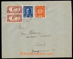 88880 - 1918 dopis  vyfr. rakouskými zn. Mi.187, Koruna 6h oranžová,