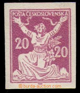 88888 -  ZT hodnoty 20h ve fialové barvě, bez perforace, zn. papí