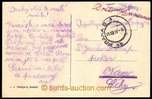 88919 - 1919 KURÝRNÍ POŠTA  pohlednice Boudry dopravená ze Švý