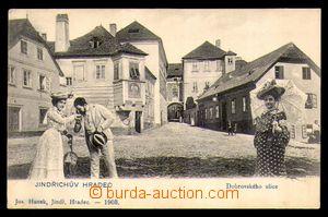 89953 - 1903 JINDŘICHŮV HRADEC - Dobrovského ulice, čb koláž s posta