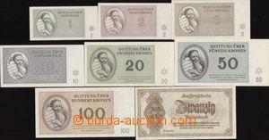 89963 - 1943-45 KT TEREZÍN  kompletní sada 7ks bankovek KT Terezín 1