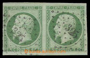 90105 - 1854 Mi.11b Napoleon III., vodorovná 2-páska, pěkný střih, č