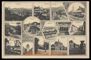 90814 - 1917 BEROUN - čb okénková pohlednice, 14-záběrová, poštovně