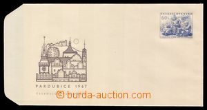 91406 - 1967 postal stationery cover 20, Pardubice, perfect conditio