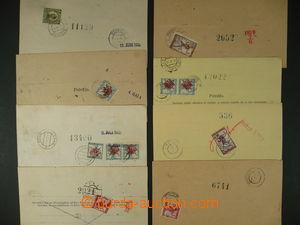 91551 - 1919-21 SHS  sestava 8 kusů šeků pro Poštovní šekový úřad  v