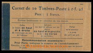91731 - 1906 neúplný známkový sešitek, obsahuje jen 2ks výplatních z