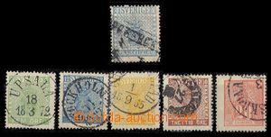 91761 - 1857-66 sestava 6ks, obsahuje zn. Mi.2c, 7, 9, 10, 11 a 16,