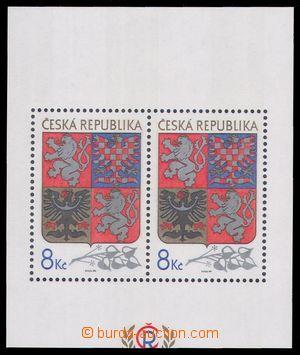 91794 - 1993 Pof.A10VV, Velký státní znak, aršíkové pole C, posun oř