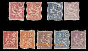91893 - 1900-02 Mi.91-95 + Mi.102-103 a 105-106, výplatní, běžná jak