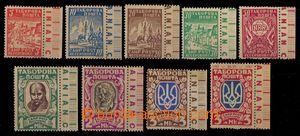 91911 - 1947 CAMP POST REGENSBURG  Táborová pošta, 5Pf - 3M, 9ks růz
