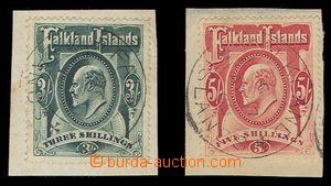 91962 - 1906 Mi.23, 24, Eduard VII., hodnoty 3Sh a 5Sh na malých výs