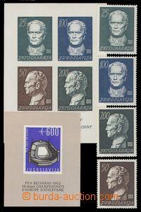 92035 - 1962 Mi.1003-1006A, Bl.8, Bl.9, Tito a ME v lehké atletice,