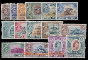 92036 - 1960 Mi.179-193, Královna Alžběta II. s řeckým a tureckým př
