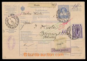 92561 - 1913 whole international dispatch note with imprinted stamp