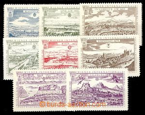 92965 - 1965 VÝSTAVY / WIPA  sestava 8ks propagačních nálepek, nálep