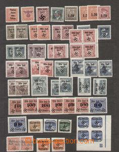 92983 - 1939 sestava 100ks známek s různými sudetskými přetisky, vět