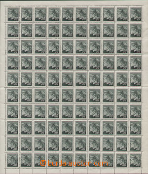 92986 - 1945 Pof.374, Linden Leaves 50h, whole counter sheet with ma