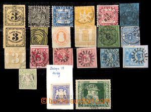 93027 - 1860-1911 BAYERN, BADEN, WÜRTTEMBERG  sestava 21ks známek, r