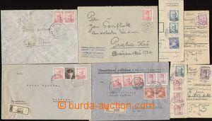 93098 - 1945-46 Portréty, sestava 4ks dopisů (2x R) a 4 ústřižků pou