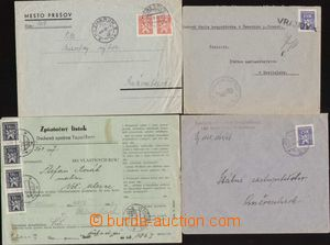 93104 - 1946-48 comp. 4 pcs of entires, paid service stmp (3x letter
