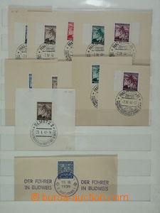 93334 - 1939-43 PR5 2x, 6a, b, c, PR7, 8, 16 5x, 112, řádkové raz. D