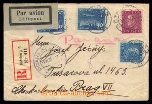 93344 - 1931 R+Let-dopis do ČSR, vyfr. zn. Mi.185, 190, 213 2x, poda