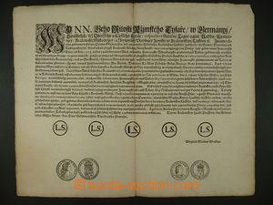 93406 - 1721 mincovní cirkulář (přemincování francouzského půl tolar