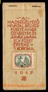 93638 - 1917 známkový sešitek, příplatkové známky pro pomoc pozůstal