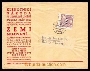 93790 - 1939 obchodní tiskovina vyfr. čsl. zn. Pof.OT1 10h fialová,