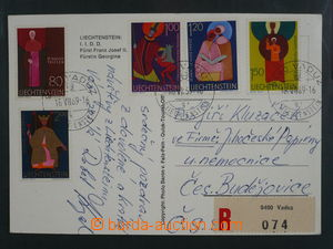 93795 - 1969 Reg postcard to Czechoslovakia, with Mi.492-494 and 501