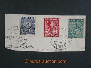 93796 - 1939 Mi.142, 143 a 145, Znak 10S, 15S a 50S na malém výstřiž