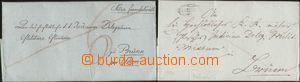 93830 - 1824-26 dva skládané dopisy adresované do Brna, 1x z r. 1824
