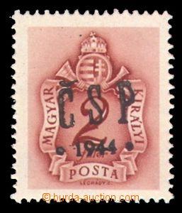 93893 - 1944 Pof.RV202 Chustský přetisk - doplatní známka 2f, pěkné,