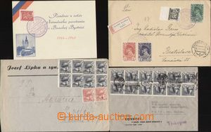 94012 - 1945 Reg letter + memorial card with special postmark BANSKÁ