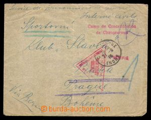 94049 - 1915 FRANCE / PRISONER OF WAR MAIL  letter to Prague, CDS CH
