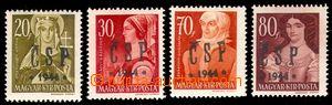 94119 - 1944 CHUST  Pof.RV194, 196, 198, 199 (Majer C21, C23, C25, C