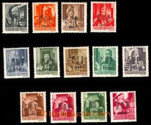 94126 - 1944 CHUST  sestava 13ks maďarských známek s chustským přeti