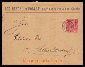 94133 - 1910 firemní celinová obálka FJ 10h červená, DR UNTER-POLAUN