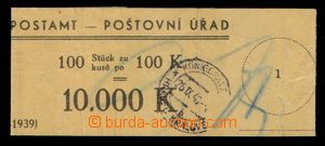 94150 - 1940 ČaM, bankovní páska, DR HRADEC KRÁLOVÉ 26.IX.40, zajíma