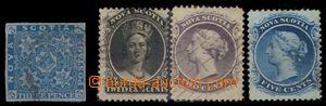 94211 - 1851-60 Mi.2, 6-7, 10, sestava 4ks známek, vzácné