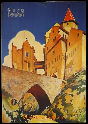 94312 - 1940 CESTOVNÍ RUCH  reklamní plakát, hrad Pernštejn, autor H