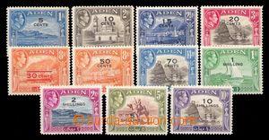 94536 - 1951 ADEN  SG.36-46, kompletní série s přetiskem nových nomi