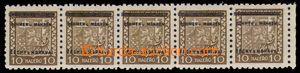 94634 - 1939 Pof.2, Znak 10h, vodorovná 5-páska s okrajem archu, u k