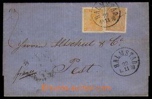 94723 - 1870 skládaný dopis vyfr. zn. Mi.10 a Mi.14, DR Halmstadt/ 2