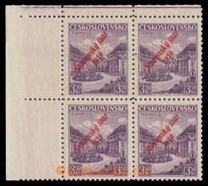 94740 - 1939 Alb.19a, Slavkov 3,50Kč, s červeným přetiskem, levý hor