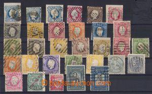 94852 - 1853-1928 PORTUGAL  sestava 31ks známek, hezká klasika, lepš