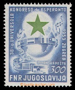 94868 - 1953 Mi.730, Esperanto 300Din, kat. 200€, kz, velmi lehky oh