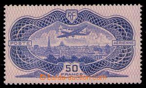 94880 - 1936 Mi.321, Letadlo nad Paříží, tzv. bankovka, zcela nepatr