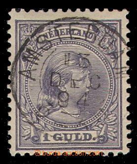 94955 - 1891 Mi.44, Královna Vilemína, 1G fialová, krásné razítko AM